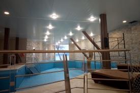 Sistema de iluminación del sector pileta, Hotel Los Yamanas