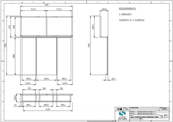 Planos para soportes de Tableros en Vinisa Fueguina S.R.L.